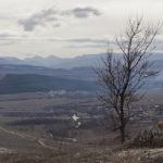 Вид с Белой скалы в Крыму зимой