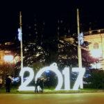 """Новогоднее украшение """"Цифры"""" на площади Лазарева в Севастополе"""