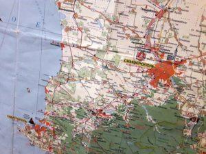 Карта Крыма с Симферополем и Севастополем
