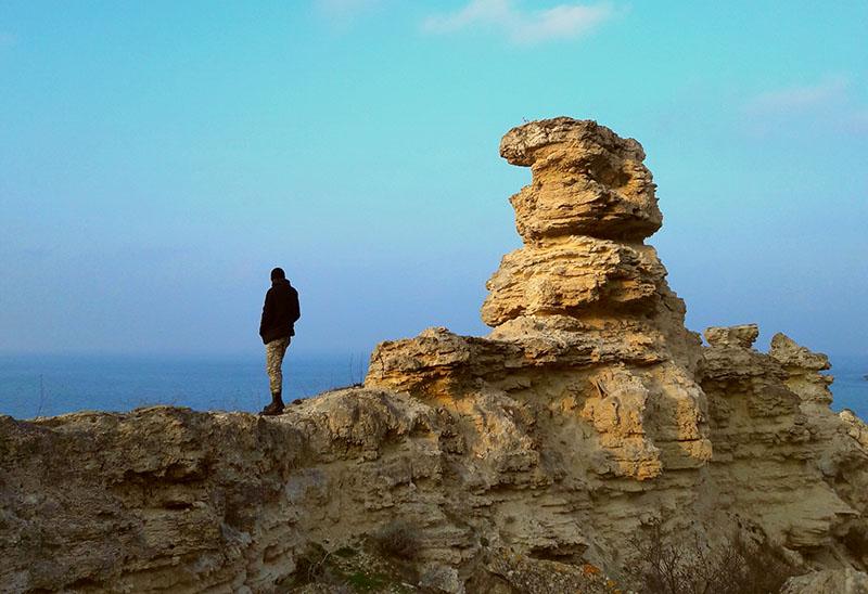Мыс Тарханкут на западе полуострова Крым