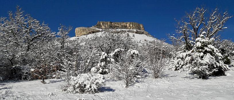 Пещерный город Тепе-Кермен зимой