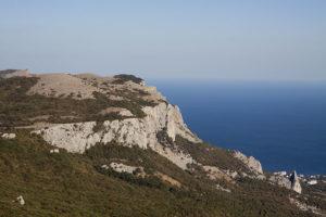 Вид с Ильяс-Кая на Черное море в Крыму
