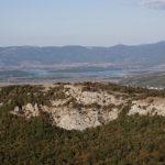 Вид с Ильяс-Кая на Чернореченское водохранилище