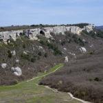 Вид с пещерного города Эски-Кермен в Крыму