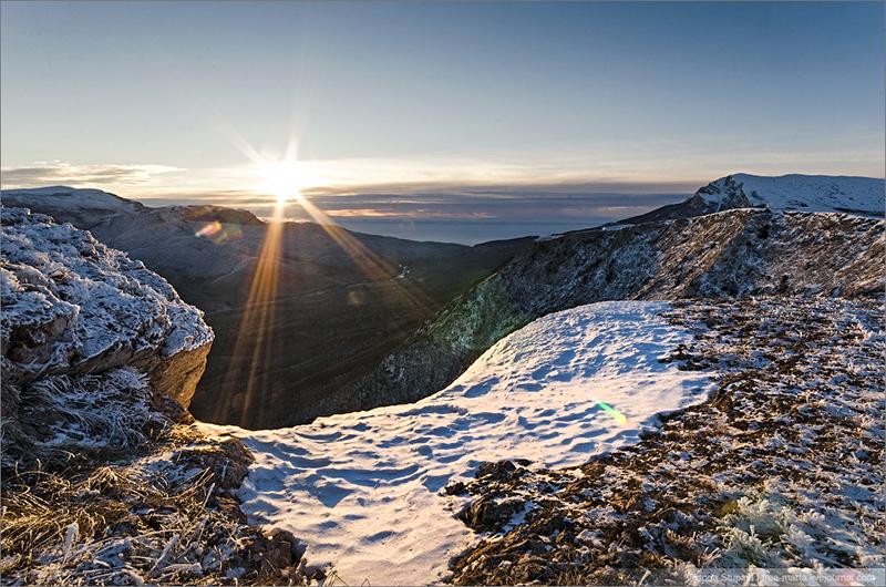 Эклизи-Бурун в Крыму зимой