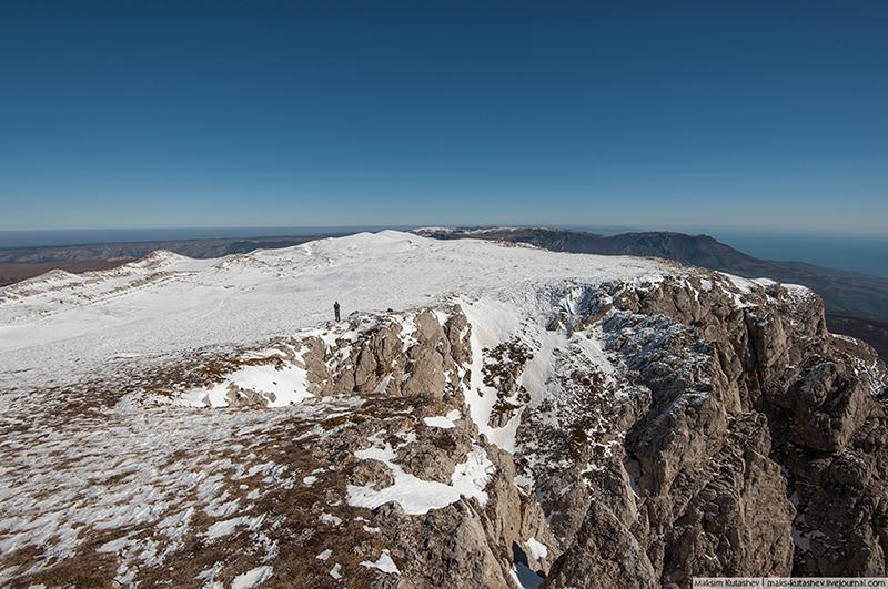 Вид на плато с Эклизи-Бурун