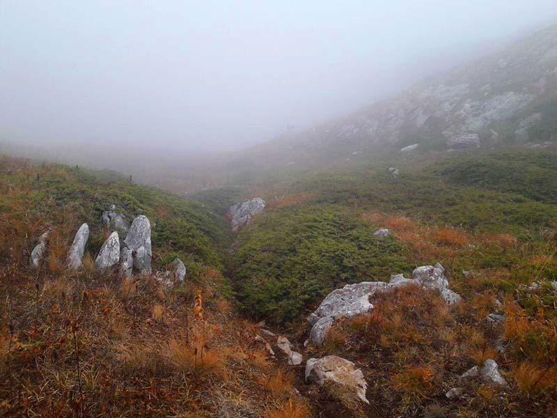 Туман на плато Чатыр-Дага в Крыму