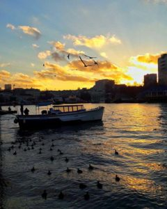 Закат на набережной Севастополя