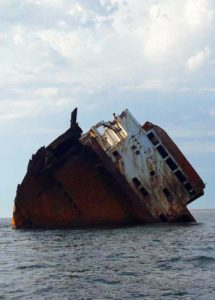 Затонувший корабль на Тарханкуте