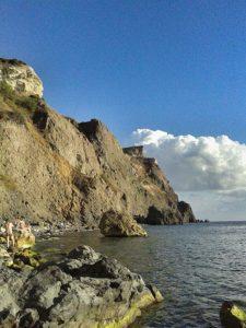 Пляж Царское село на Фиоленте в Севастополе