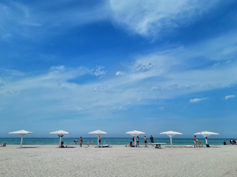 Пляж Майами в Олененке на Тарханкуте