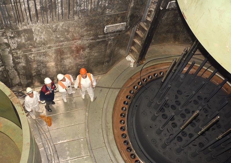 Внутри ядерного реактора