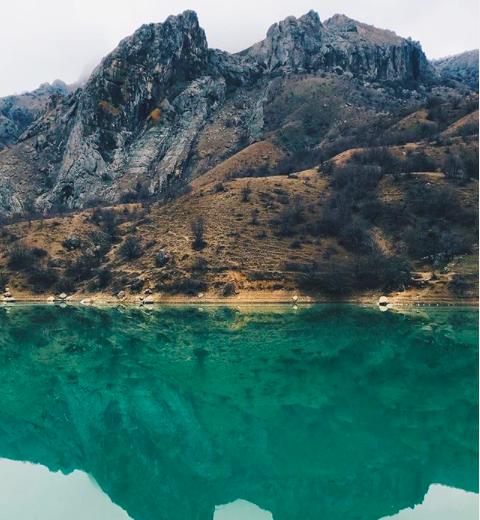 Озеро Панагия в Зеленогорье в Крыму