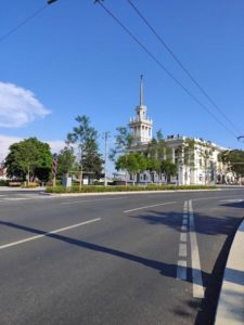 Матросский клуб на площади Ушакова в Севастополе