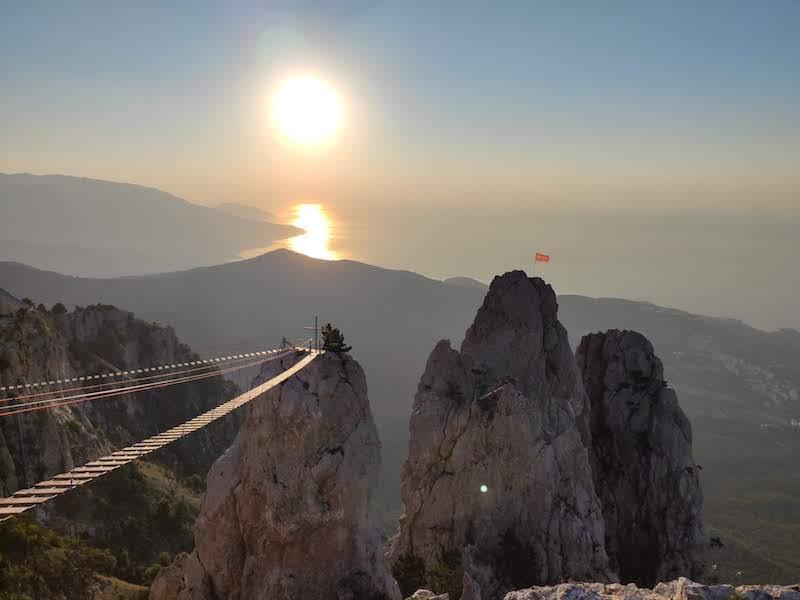 Подвесной мост на Ай-Петри